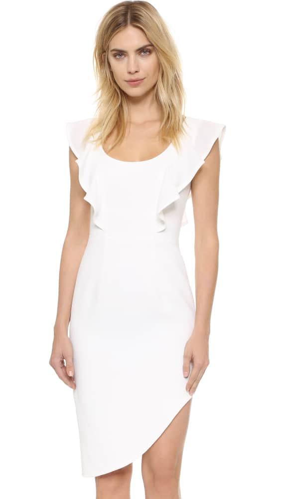 Black Halo Tula Mini Dress - White