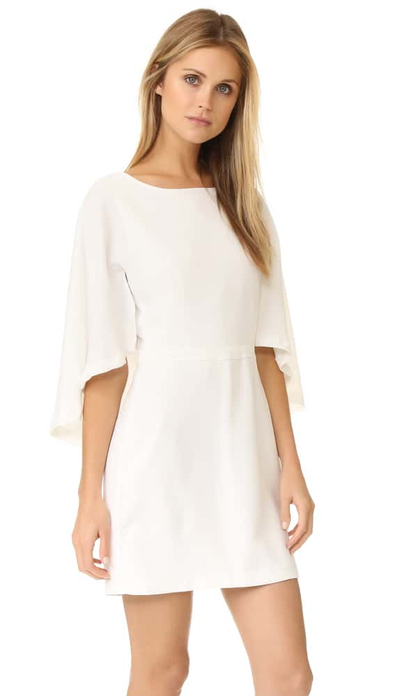 cupcakes and cashmere Jacey Cape Dress - Ivory
