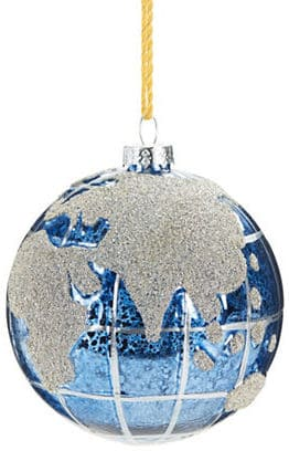 Lord & Taylor Paved Glass Globe Christmas Ornament