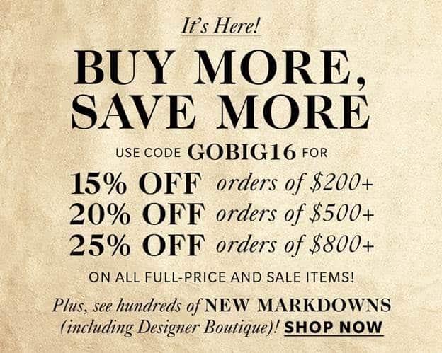 Shopbop Sale - November 2016