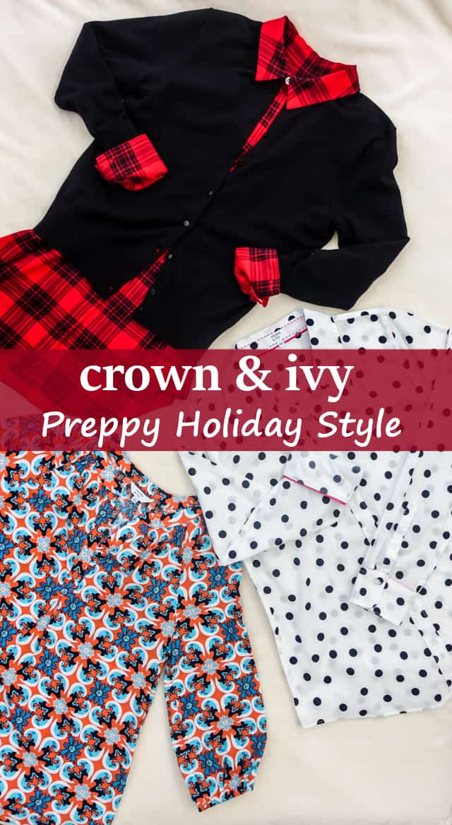 Preppy Holiday Style with Crown & Ivy