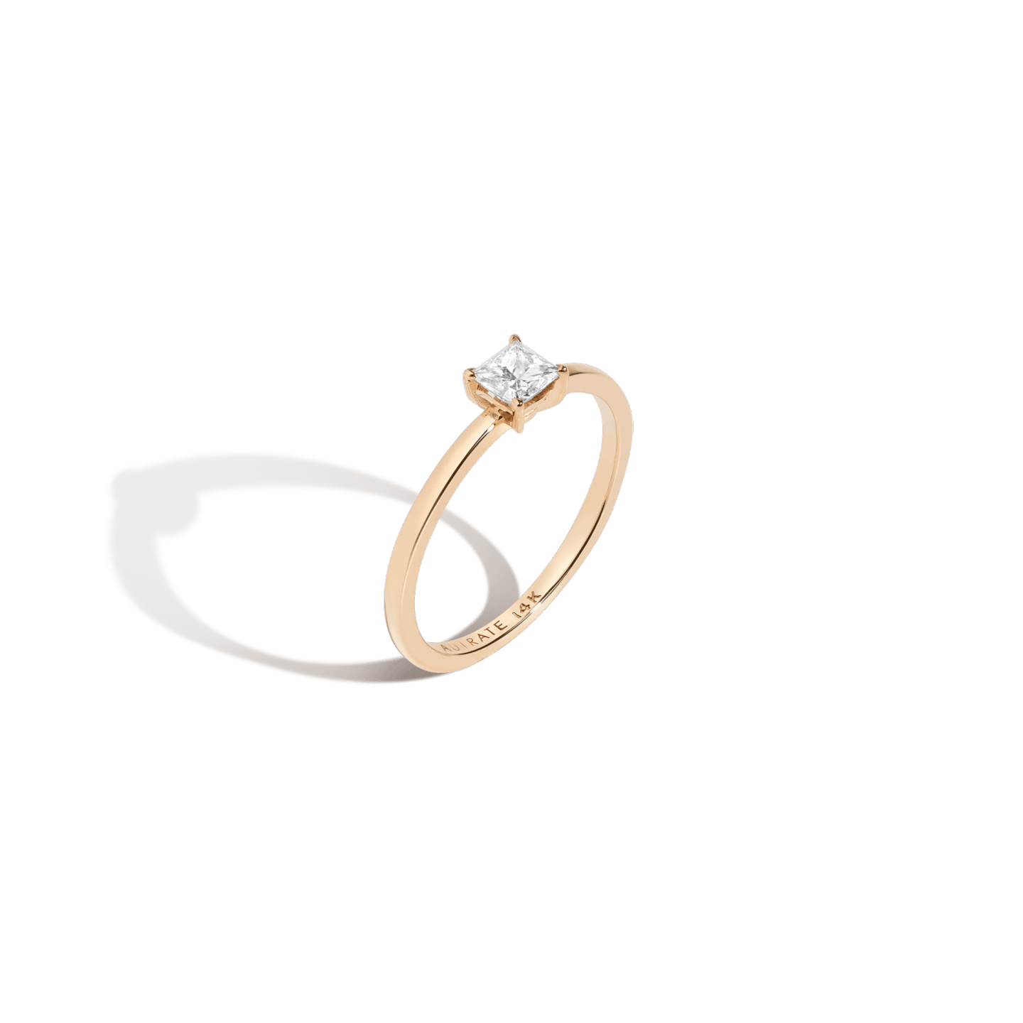 Engraved Fine Jewelry - AUrate Large Diamond Solitaire Ring